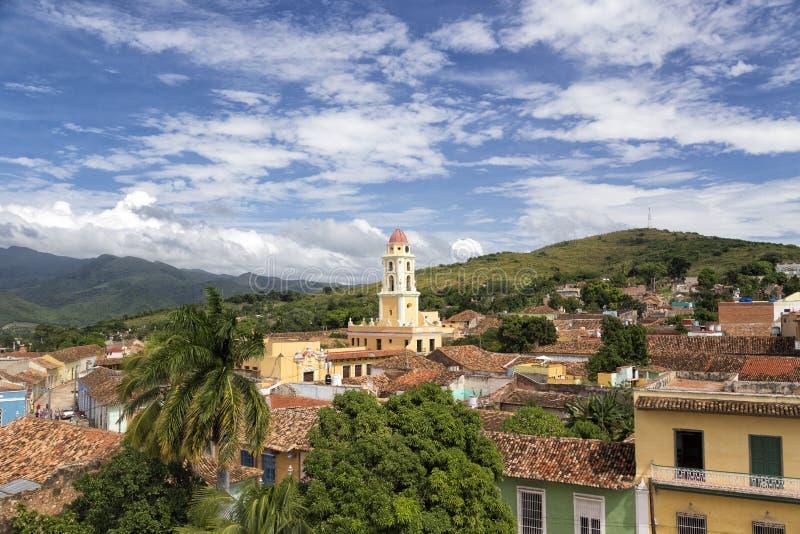 Cityscape av världsarvet Trinidad, Kuba arkivfoton