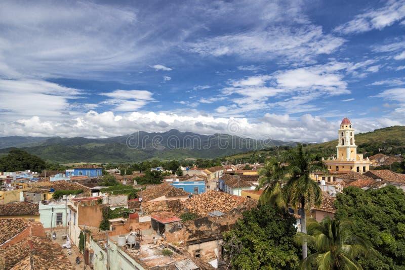 Cityscape av världsarvet Trinidad, Kuba arkivbilder