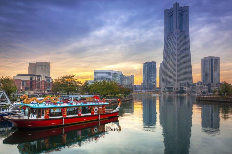 Cityscape av Yokohama, Japan royaltyfri bild