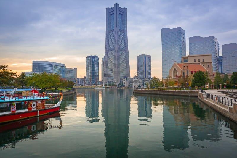 Cityscape av Yokohama, Japan royaltyfria bilder