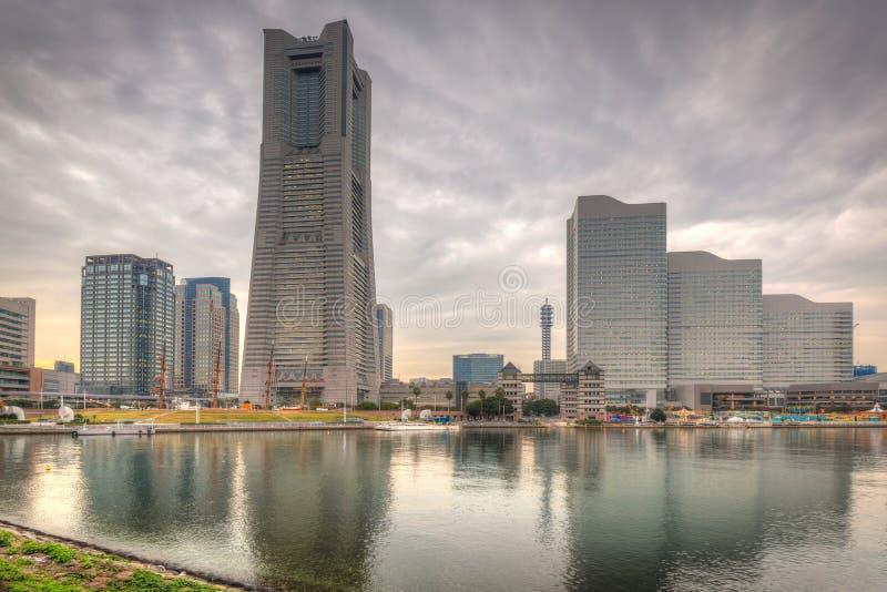 Cityscape av Yokohama, Japan royaltyfri fotografi