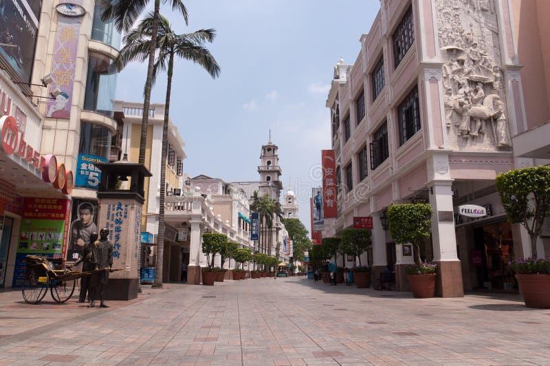 Cityscape av Zhongshan arkivbilder