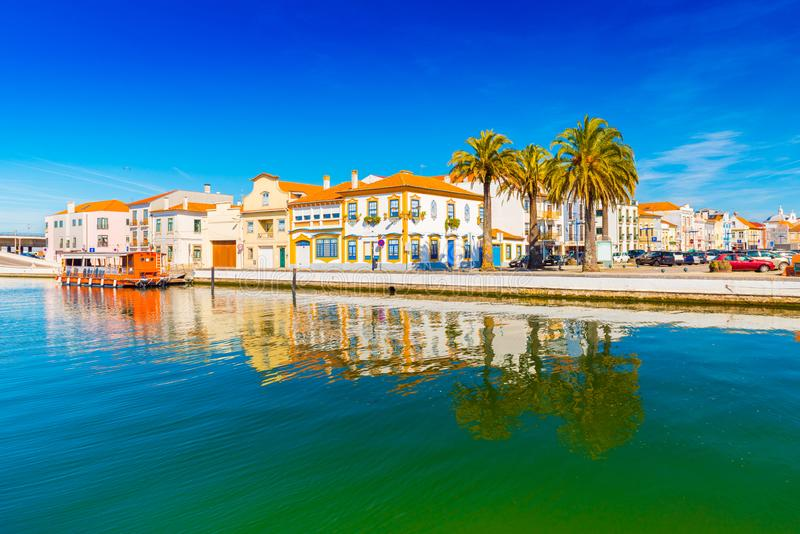 Cityscape of Aveiro, a small beautiful town in Portugal stock photography