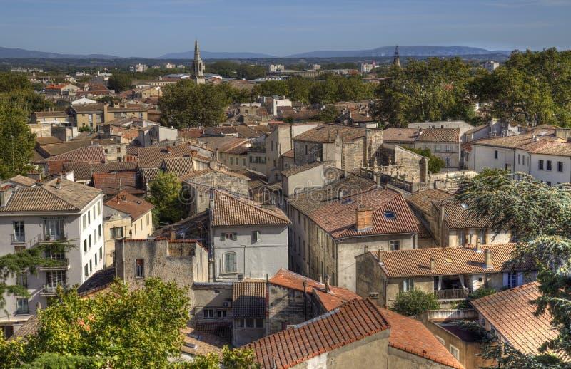 Cityscape of Avignon, France royalty free stock photos