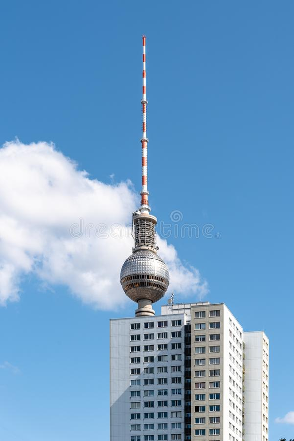 Cityscape of Berlin with skyscraper and TV tower royalty free stock images