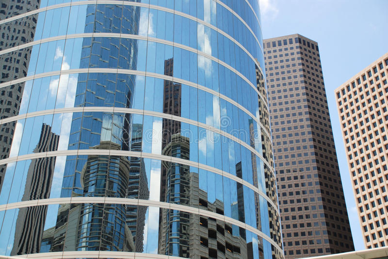 Cityscape Bezinningen royalty-vrije stock foto
