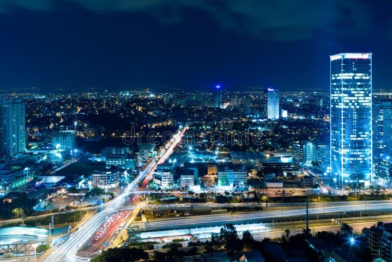 Cityscape bij nacht royalty-vrije stock afbeeldingen