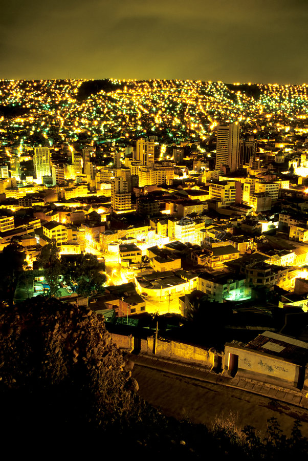 Cityscape- Bolívia de Paz de La imagem de stock royalty free