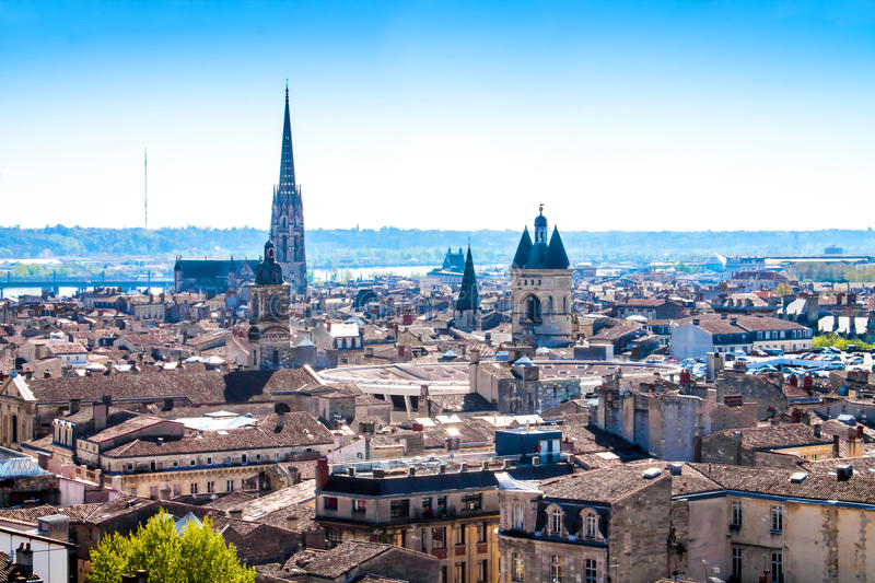 Cityscape of Bordeaux in France royalty free stock image