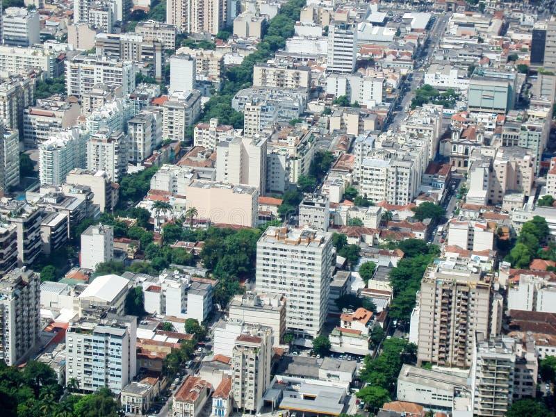 Cityscape Botafogo in Rio de Janeiro stock afbeelding