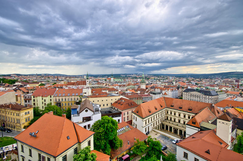 Cityscape of Brno, Czech Republic stock image