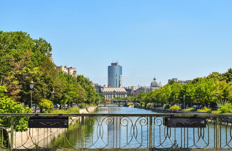 Cityscape of Bucharest. stock photo