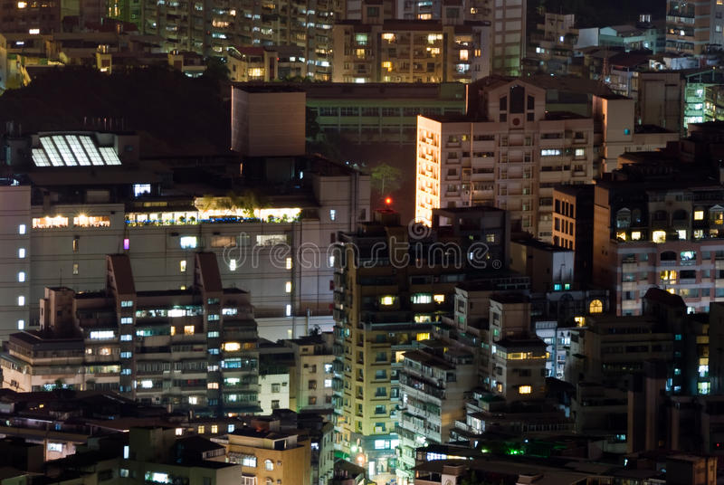 Download Cityscape Of Buildings In The Night Stock Photo - Image: 14501472