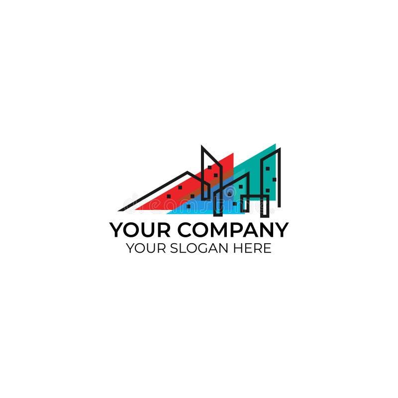 Cityscape business logo royalty free illustration