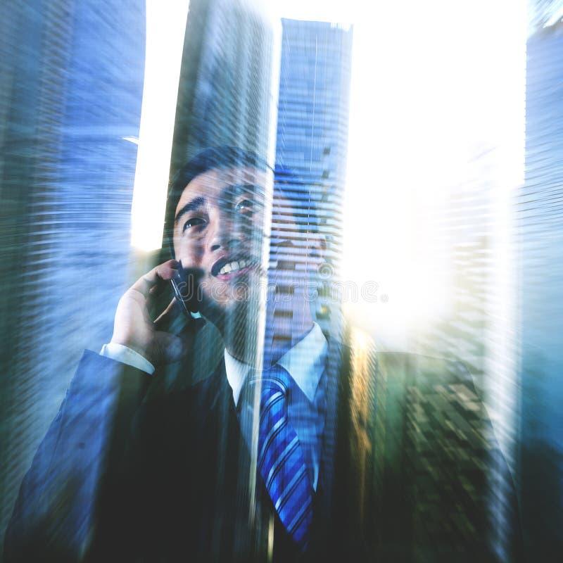 Cityscape Businessman Communication Office Worker Concept.  stock image