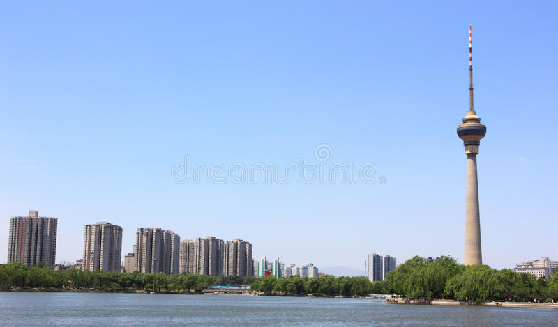 Cityscape of CCTV tower,beijing royalty free stock photography