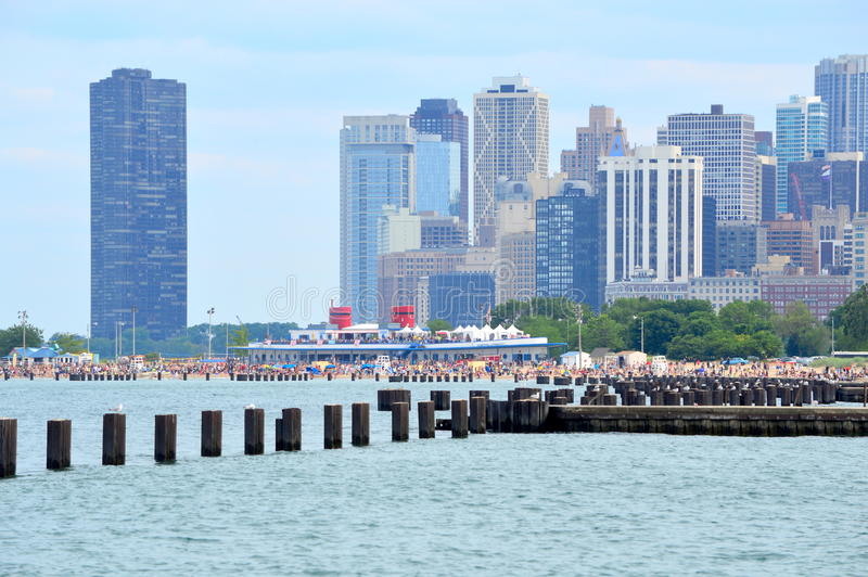 Cityscape Chiago from Lincoln Park royalty free stock images