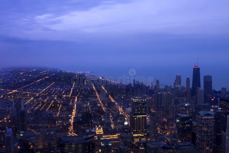 Cityscape of Chicago Illinois stock photos