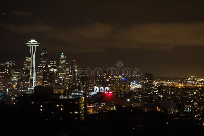 Cityscape, City, Skyline, Night stock photo