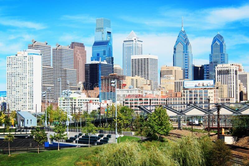 Cityscape City Skyline. View of city Philadelphia, PA royalty free stock photography