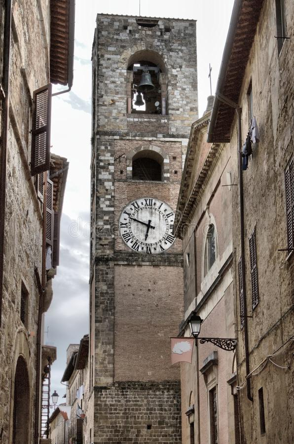 Cityscape of Colle di Val d& x27;Elsa. Tuscany, Italy royalty free stock images