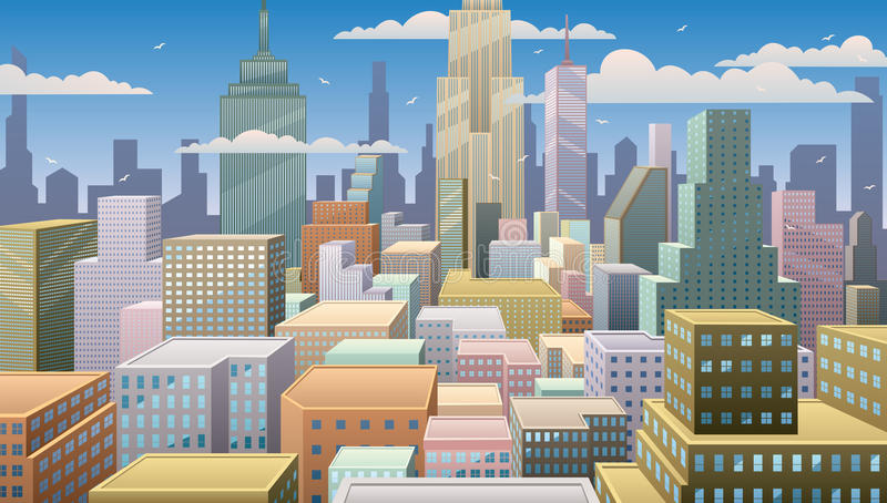 Cityscape Dag vector illustratie