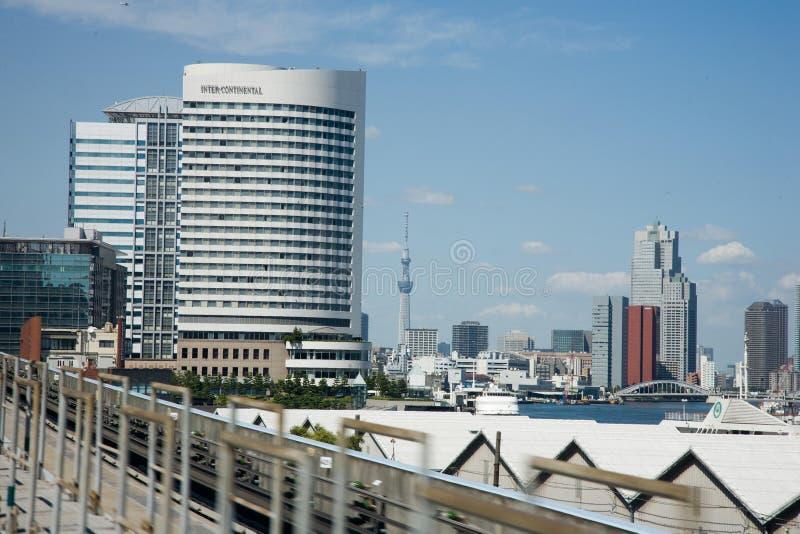 Cityscape de horizon van Tokyo royalty-vrije stock fotografie