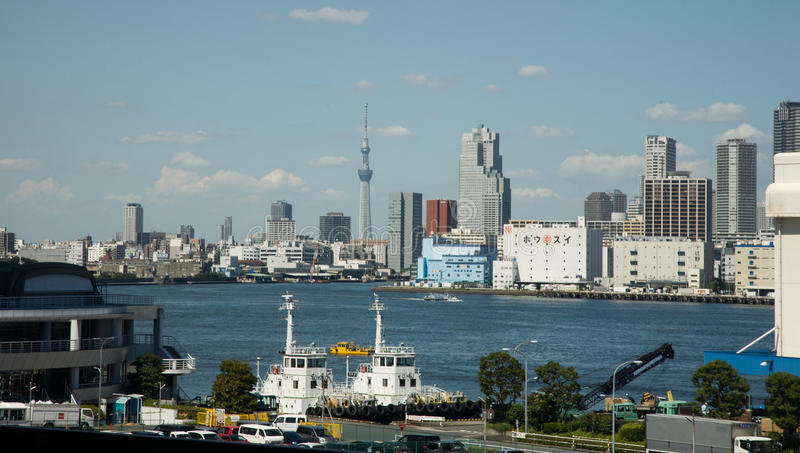 Cityscape de horizon van Tokyo stock foto