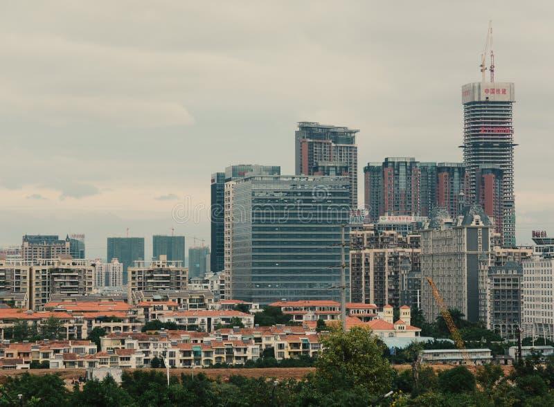 Cityscape de Nanning, Chine images libres de droits