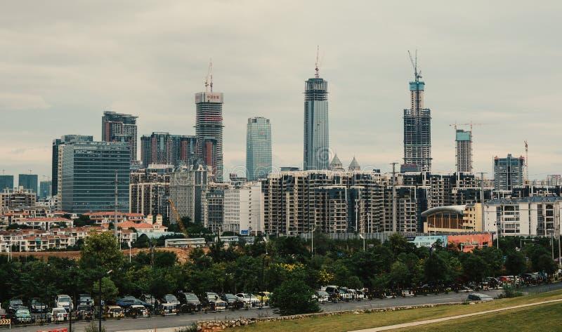 Cityscape de Nanning, Chine image libre de droits