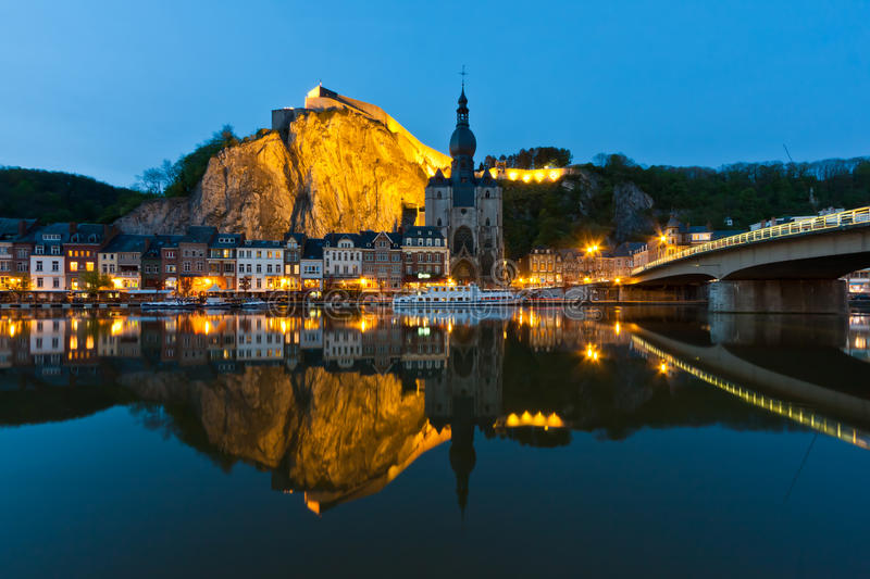 Download Cityscape Of Dinant At The River Meuse, Belgium Royalty Free Stock Photography - Image: 24787937