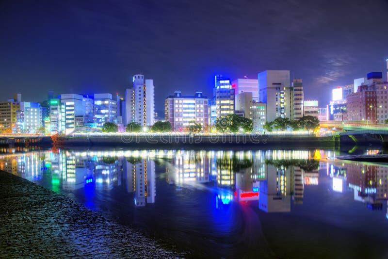 Hiroshima. Cityscape in downtown Hiroshima, Japan stock images