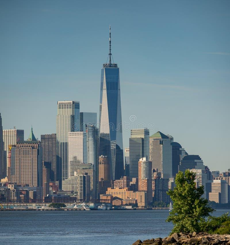 Cityscape Downtown Manhattan New York. USA stock image
