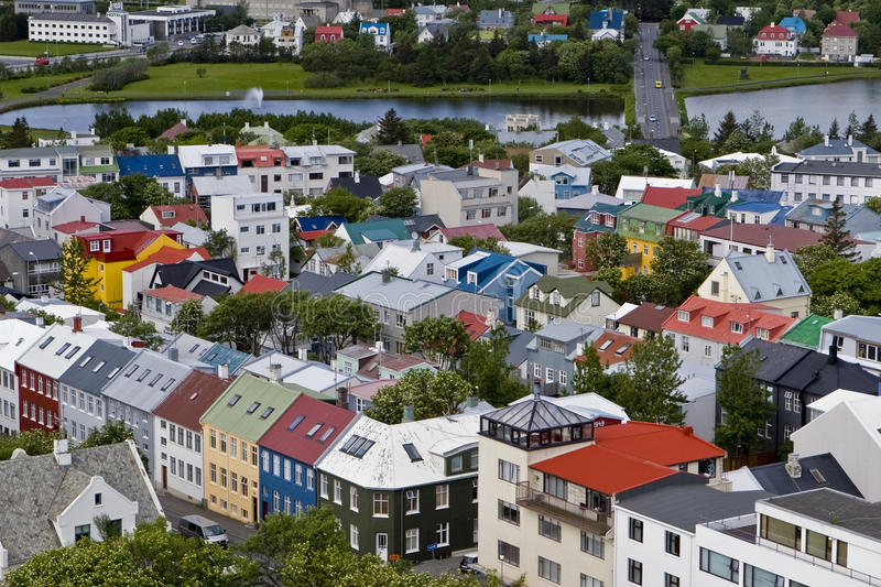 Cityscape of downtown Reykjavik, Iceland. stock images