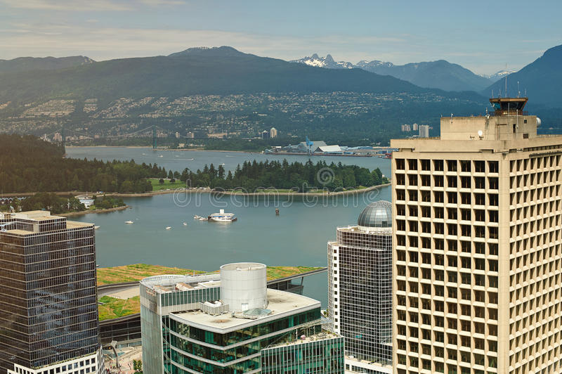 Cityscape of downtown vancouver royalty free stock images