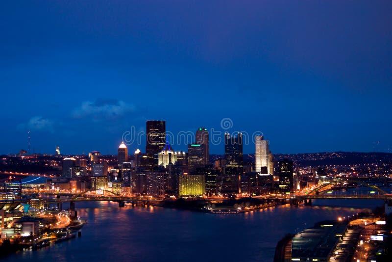 Cityscape at dusk royalty free stock image