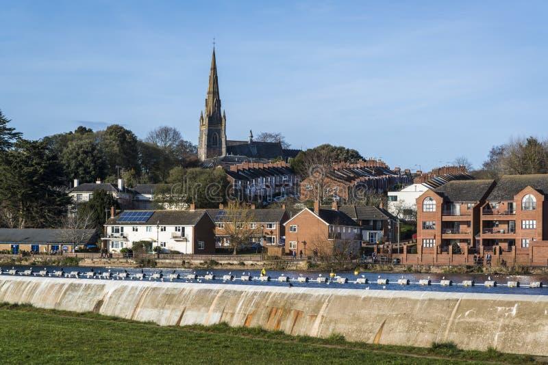 Cityscape Exeter, Devon, England, Förenade kungariket fotografering för bildbyråer