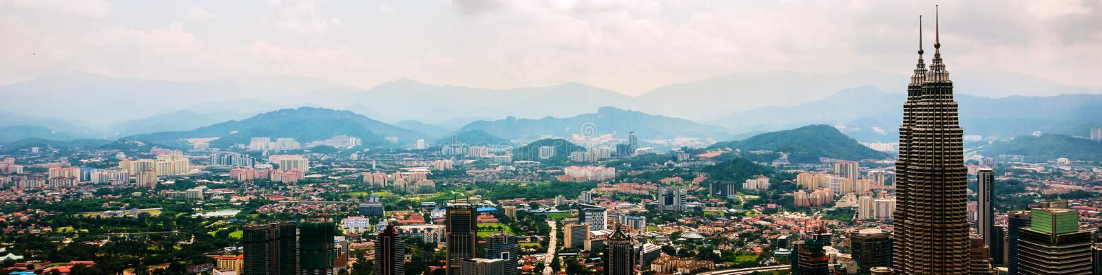 Cityscape of the famous city Kuala Lumpur in Malaysia, Asia royalty free stock images