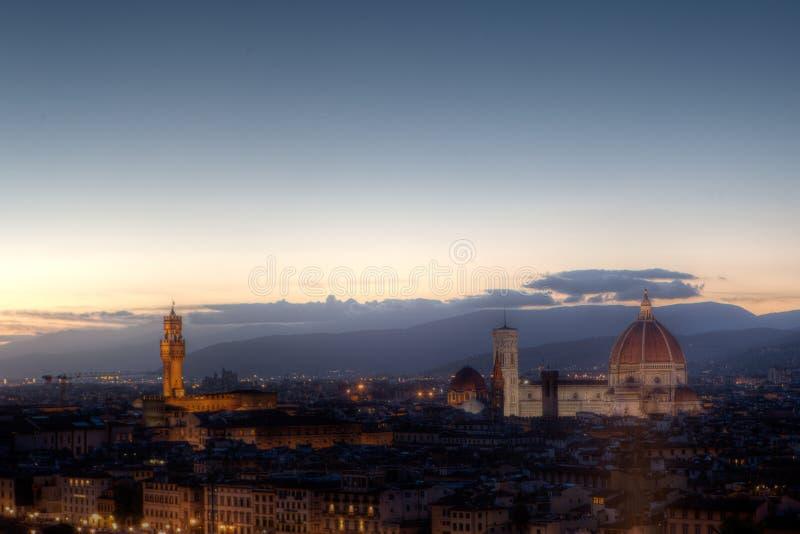 Cityscape Florence, Firenze, Tuscany, Italy Evening royalty free stock photo