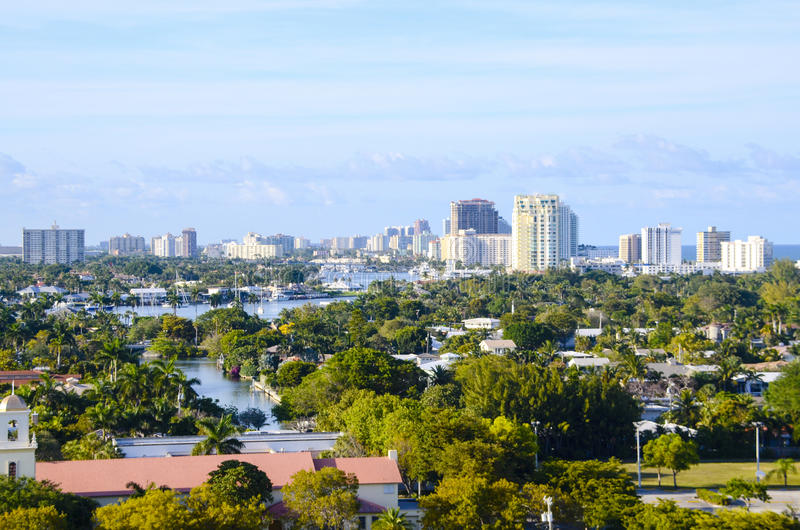 Cityscape Fort Lauderdale, Florida royalty free stock photo