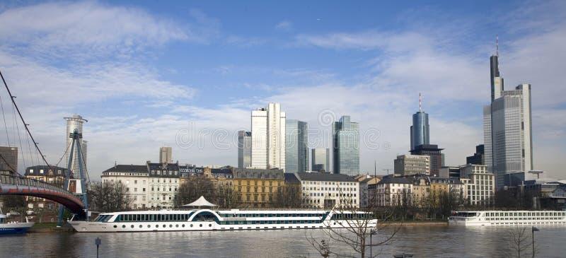 cityscape frankfurt arkivfoton