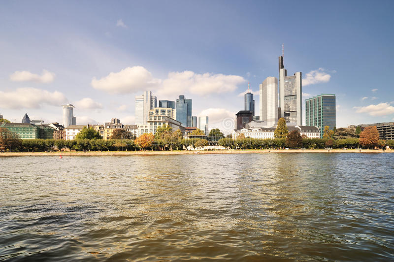 Cityscape of Frankfurt in daytime stock photo