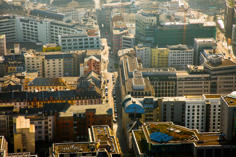 Cityscape Frankfurt Germany stock photos