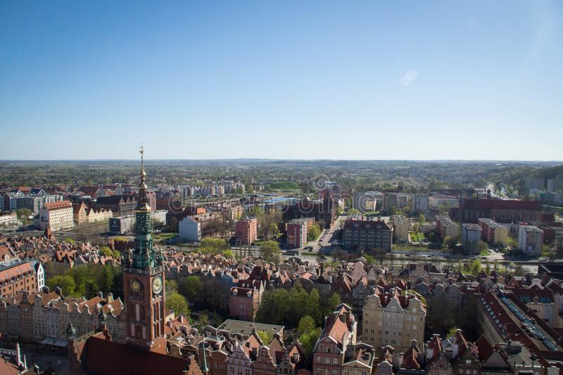 Cityscape of Gdansk, Poland stock images