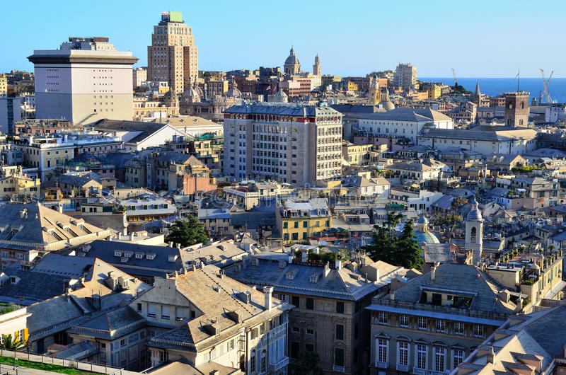Download Cityscape of Genoa, Italy stock photo. Image of downtown - 21994068