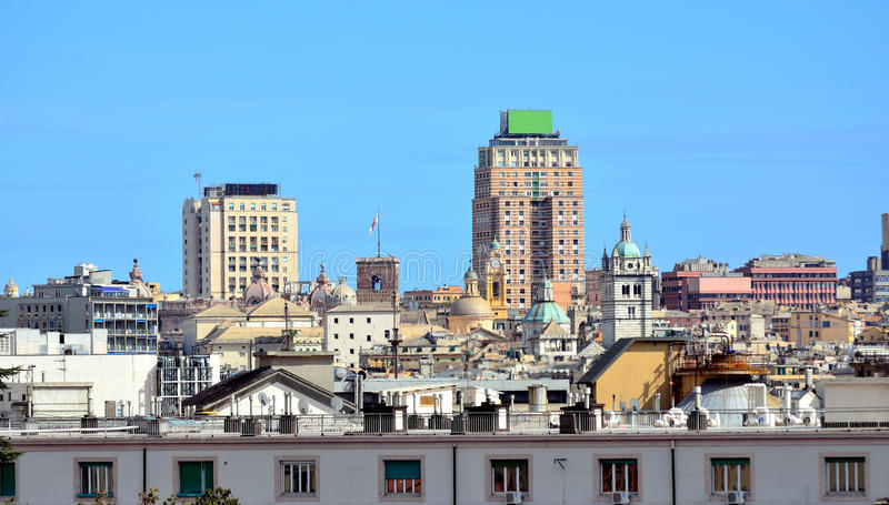 Cityscape of Genoa, Italy. Cityscape of Genoa, seen from the castle district royalty free stock image