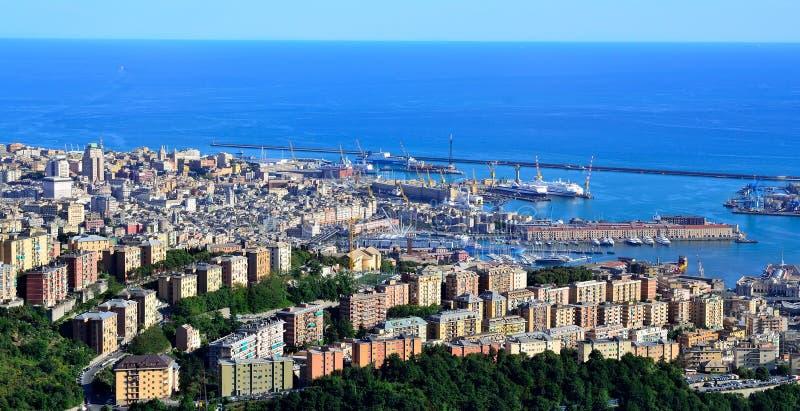 cityscape genoa italy royaltyfri bild