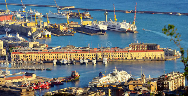 Cityscape of Genoa, Italy. Cityscape of Genoa, seen from the castle district royalty free stock photography