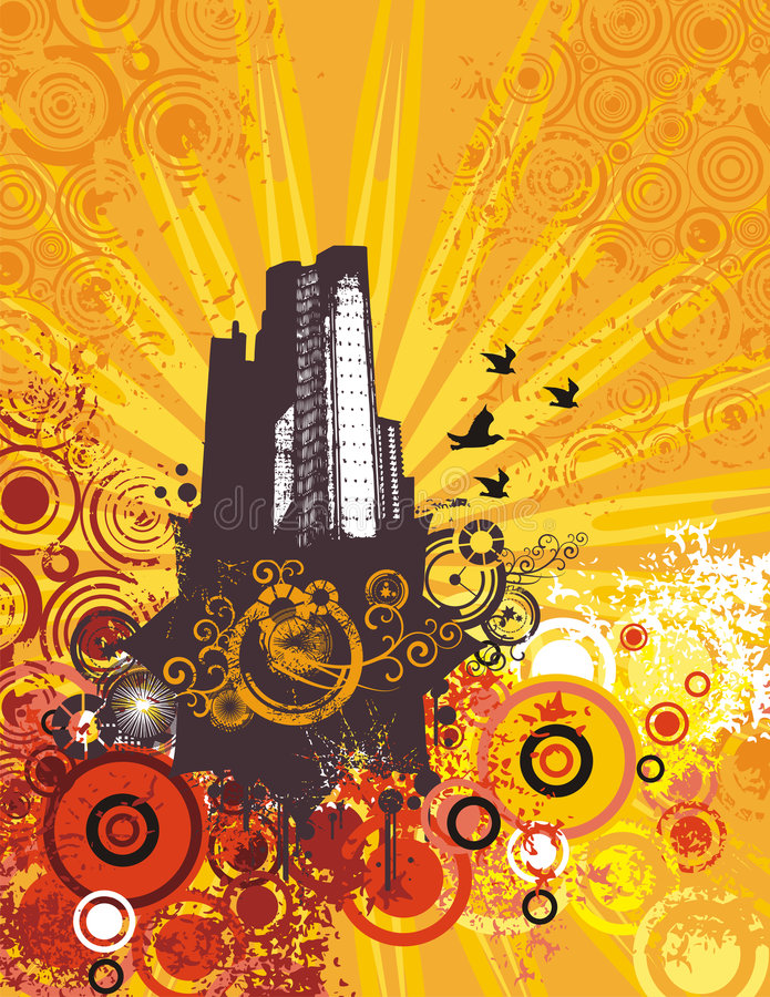 Download Cityscape Grunge Background Stock Vector - Image: 6053481