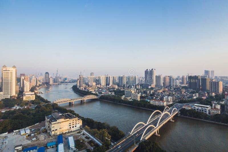 cityscape of guangzhou stock photos